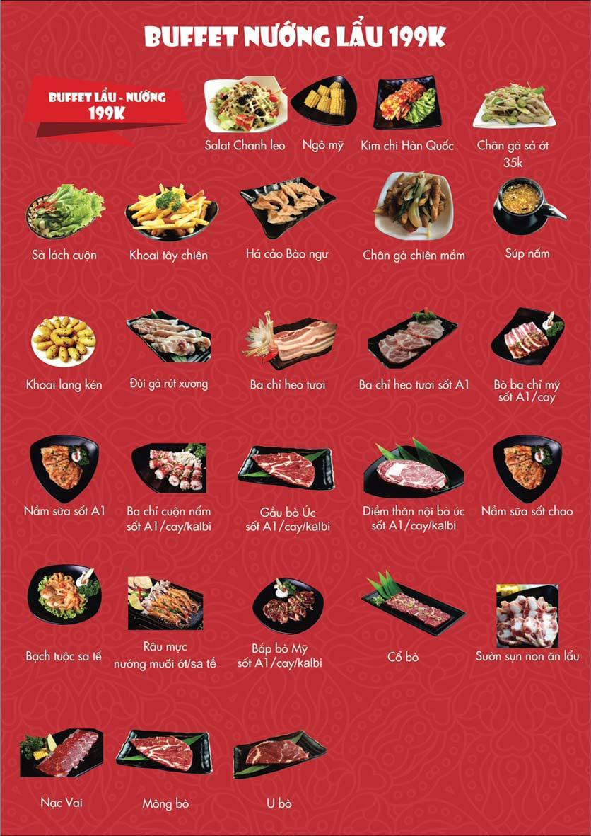 Menu A1 Restaurant - Kim Đồng 3