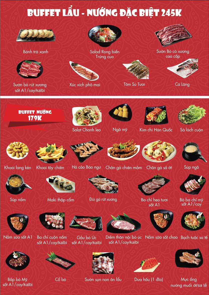 Menu A1 Restaurant - Kim Đồng 4
