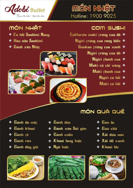 Menu Adobi Buffet - Nguyễn Cơ Thạch 3