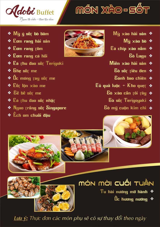 Menu Adobi Buffet - Nguyễn Cơ Thạch 8