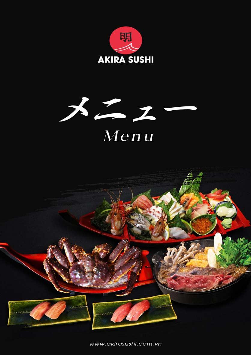 Menu Akira Sushi - Trần Phú   1
