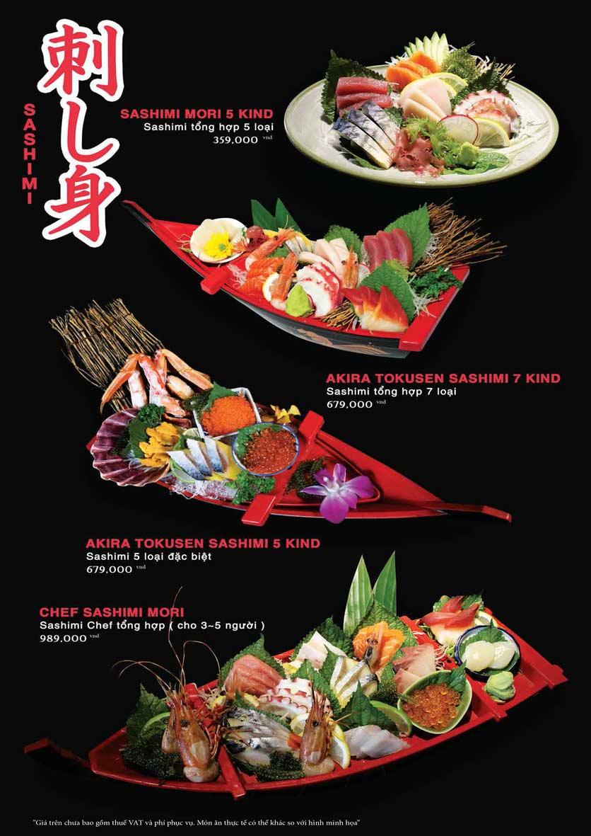 Menu Akira Sushi - Trần Phú   12