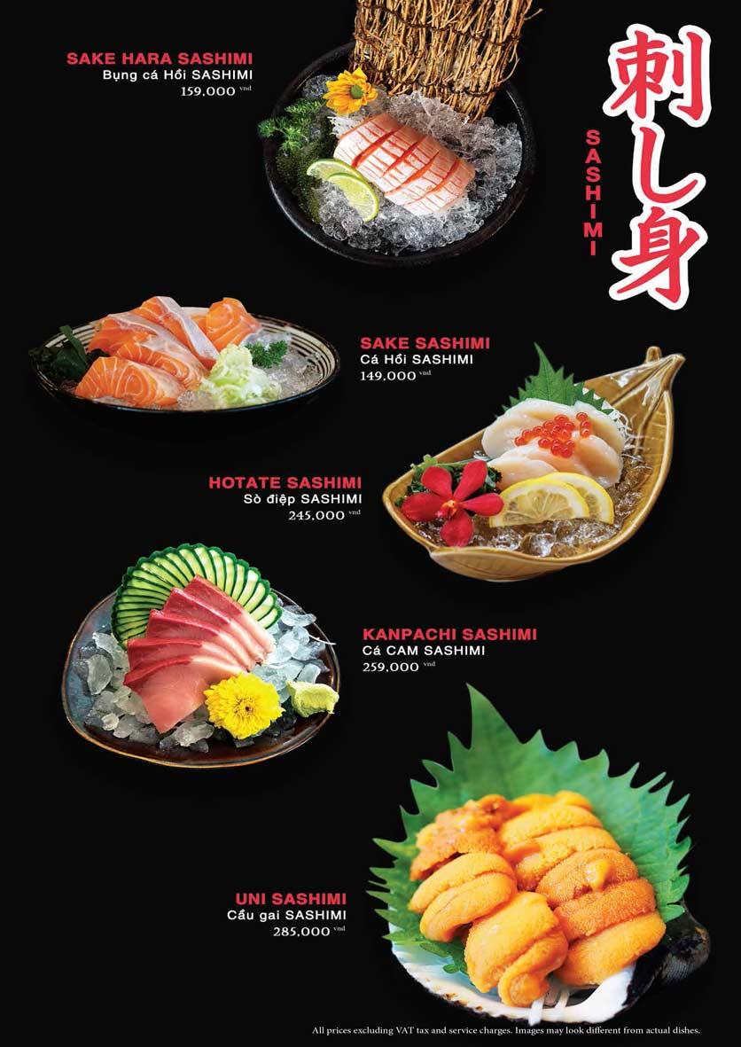 Menu Akira Sushi - Trần Phú   13