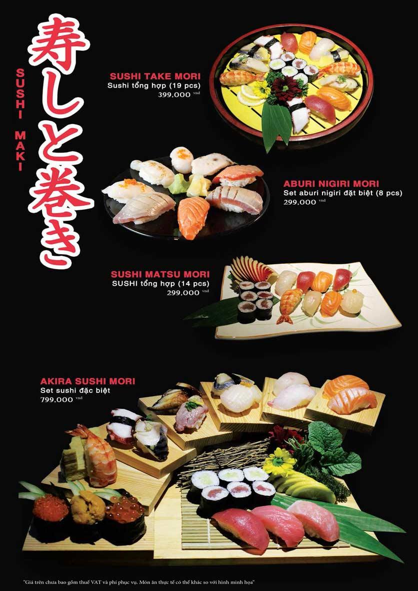 Menu Akira Sushi - Trần Phú   16