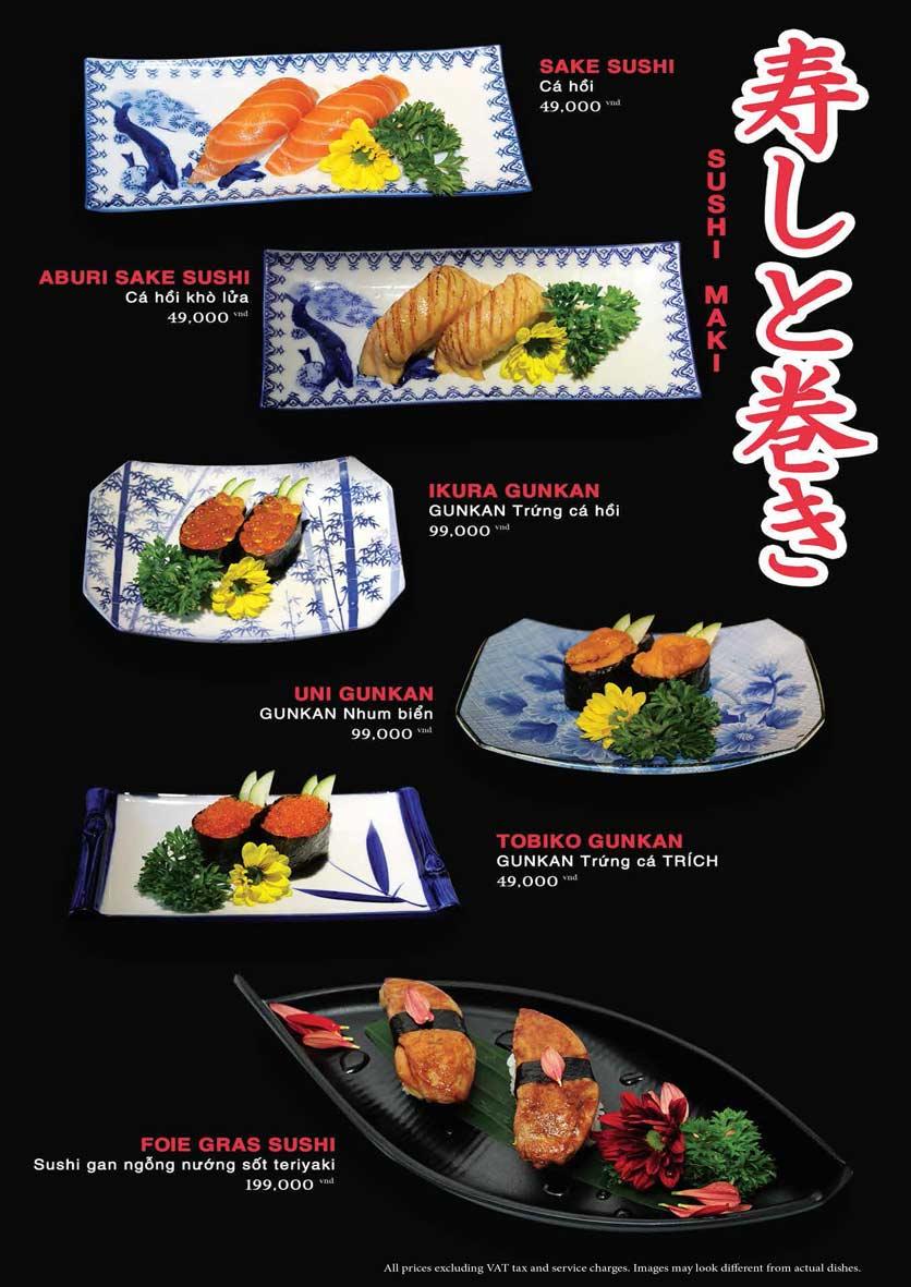 Menu Akira Sushi - Trần Phú   17