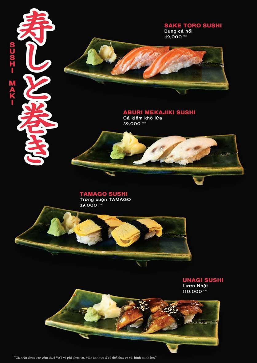 Menu Akira Sushi - Trần Phú   18