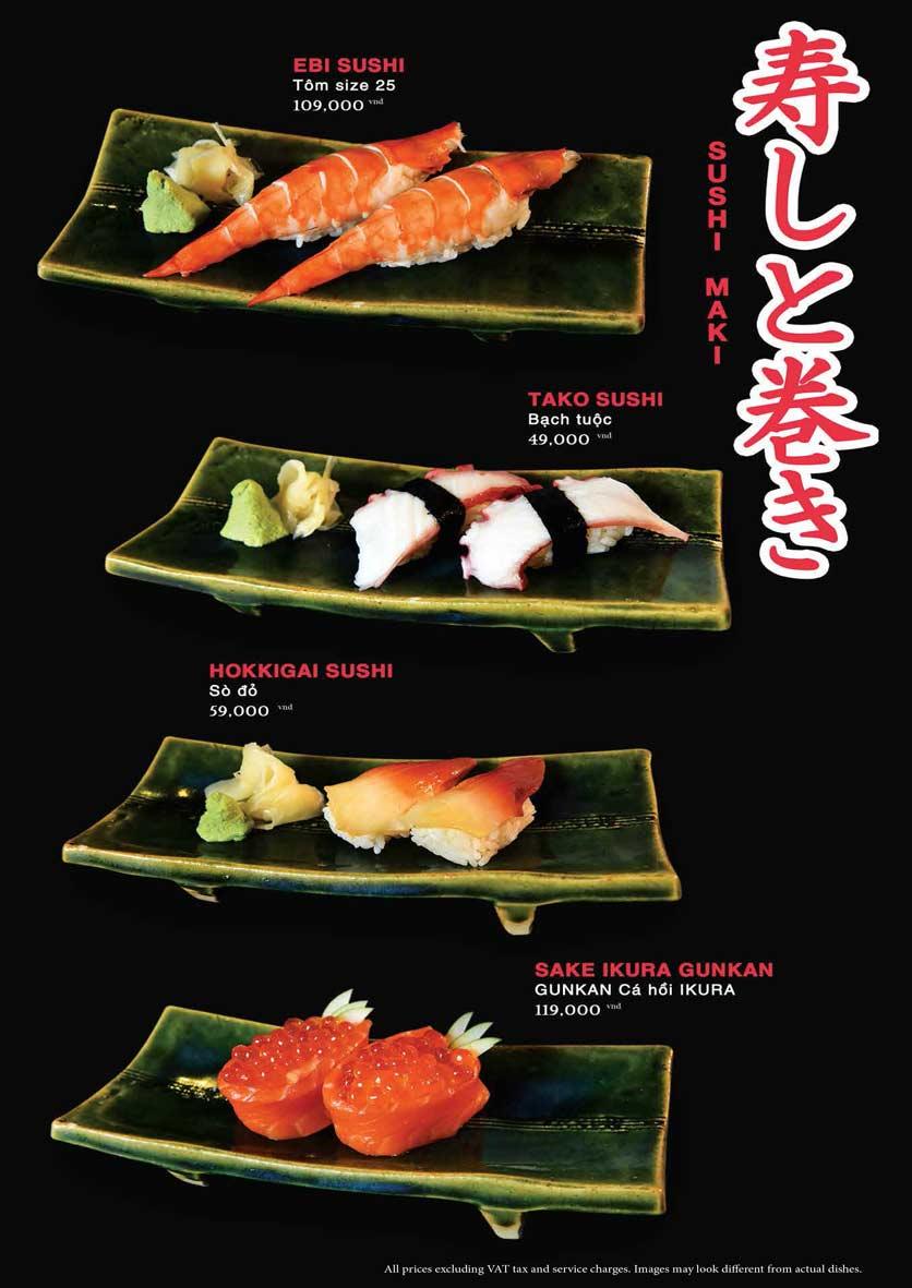 Menu Akira Sushi - Trần Phú   19
