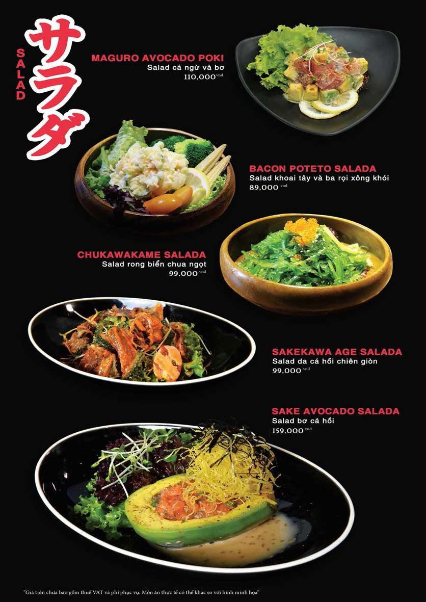 Menu Akira Sushi - Trần Phú   2