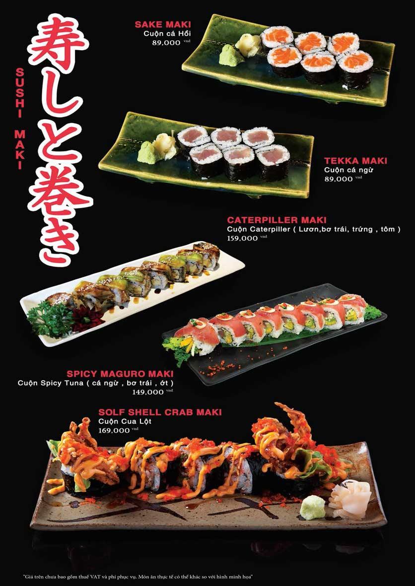 Menu Akira Sushi - Trần Phú   20