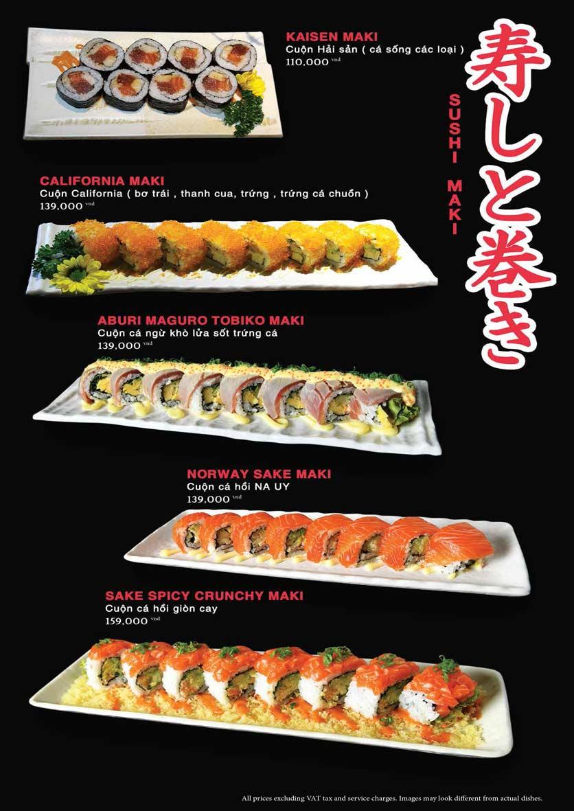 Menu Akira Sushi - Trần Phú   21