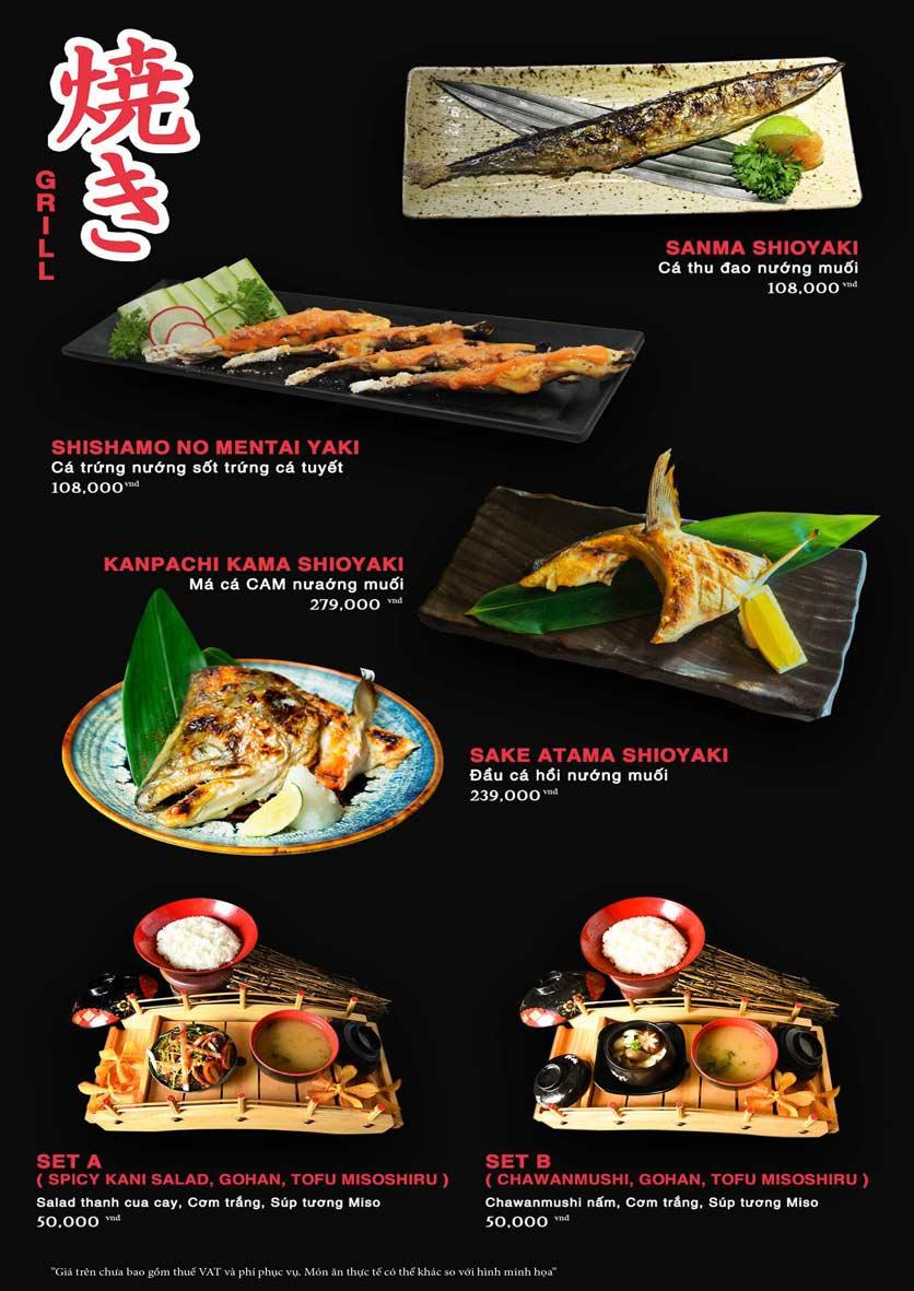 Menu Akira Sushi - Trần Phú   22