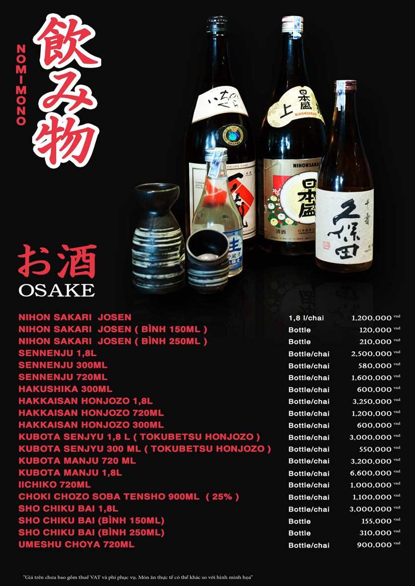 Menu Akira Sushi - Trần Phú   30
