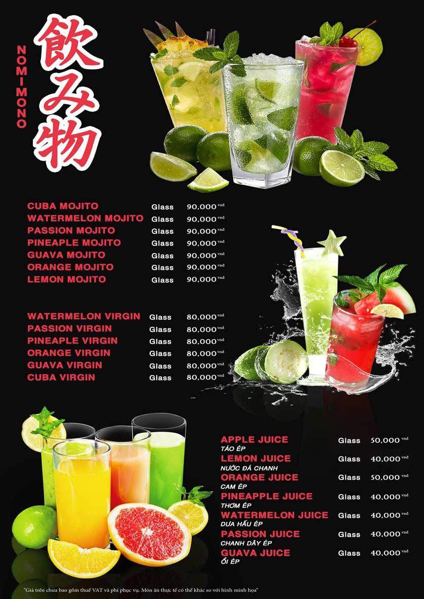 Menu Akira Sushi - Trần Phú   32