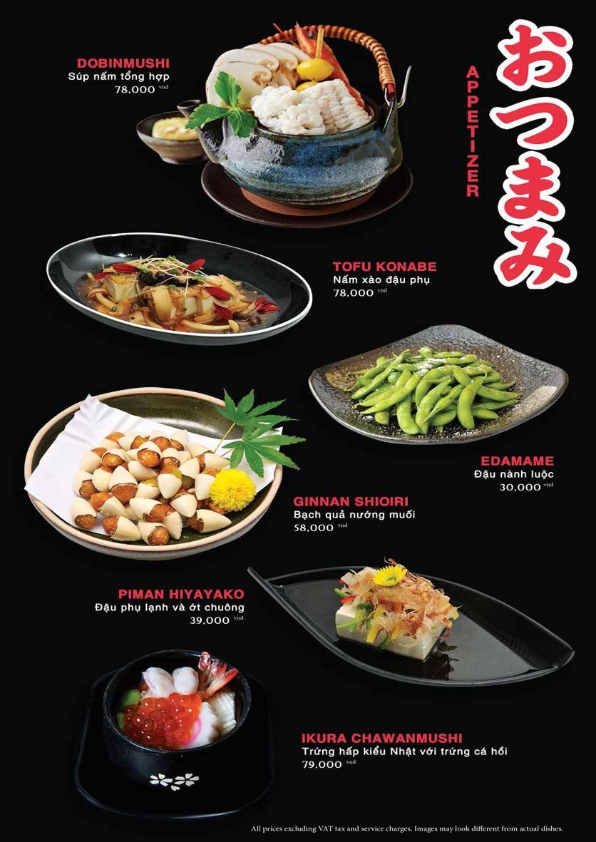 Menu Akira Sushi - Trần Phú   5