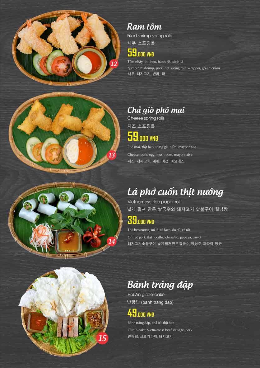 Menu Ẩm Thực Xèo - Lotte Mart 10