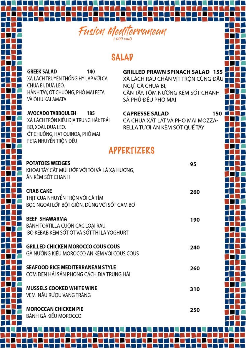 Menu Amun Garden Restaurant & Lounge - Lý Tự Trọng 5