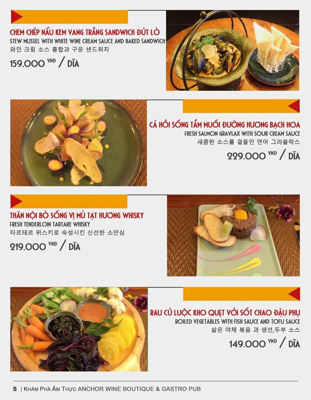Menu Anchor Wine Boutique & Gastro Pub - Lê Văn Thiêm  5