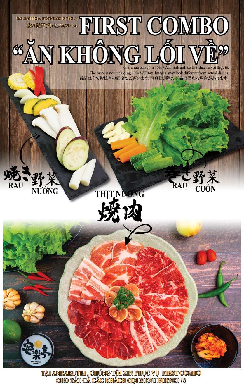 Menu Anrakutei Japanese BBQ - Mạc Đĩnh Chi 2