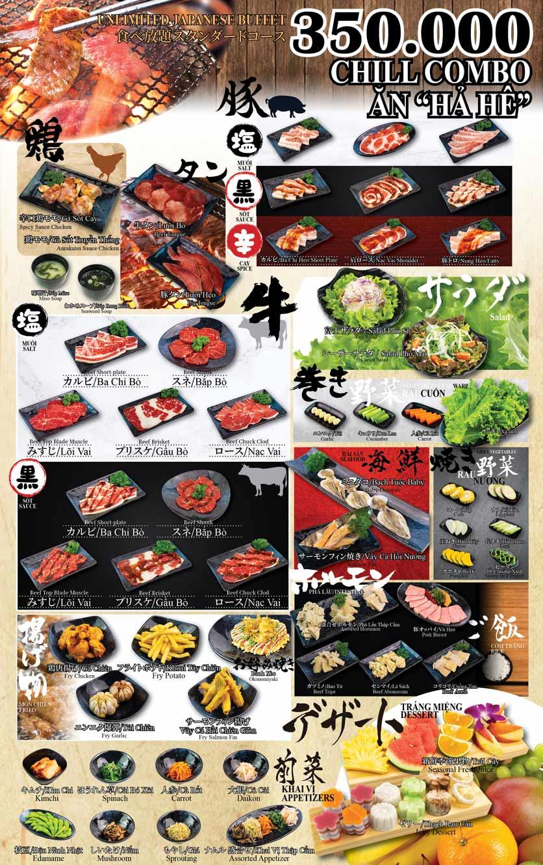 Menu Anrakutei Japanese BBQ - Mạc Đĩnh Chi 3