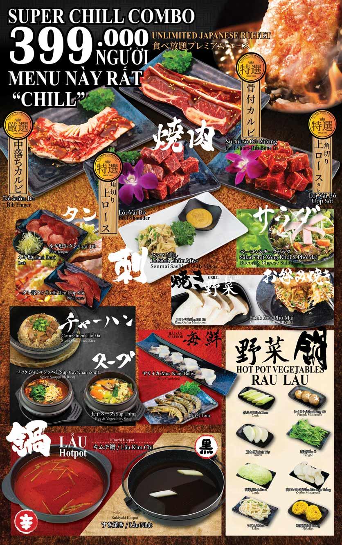 Menu Anrakutei Japanese BBQ - Mạc Đĩnh Chi 4