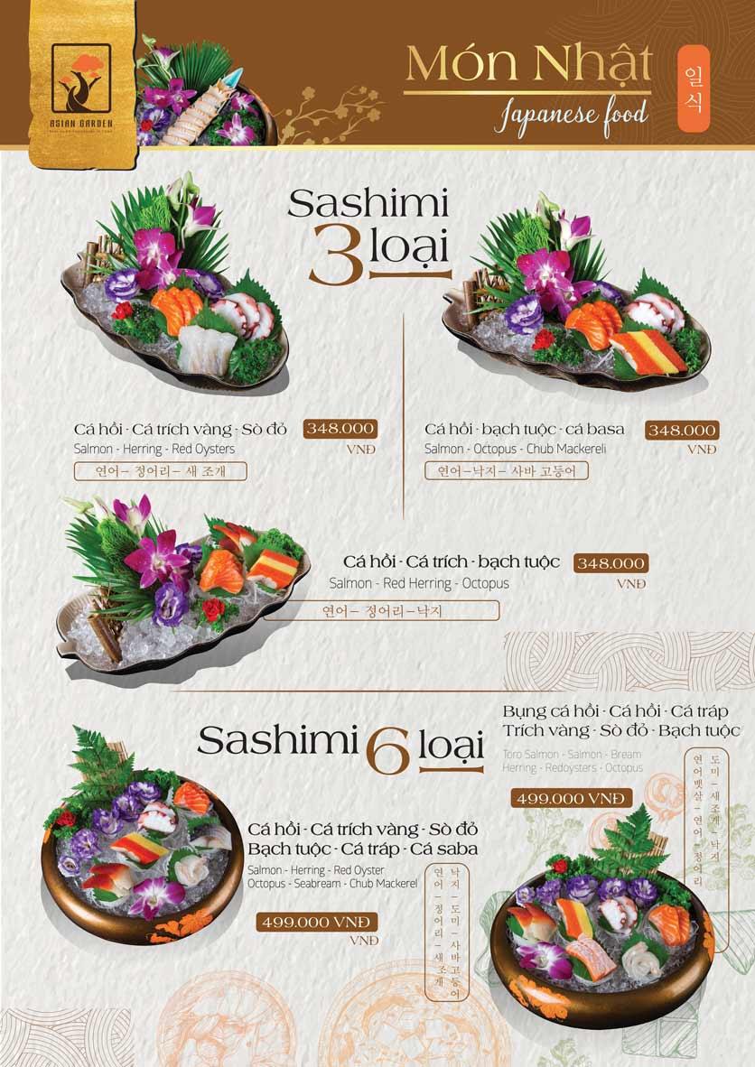 Menu Asian Garden - Láng Hạ 13