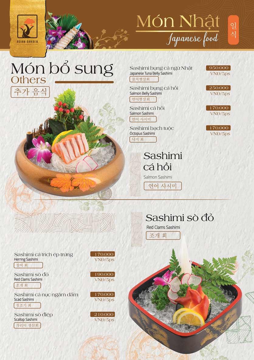 Menu Asian Garden - Láng Hạ 14
