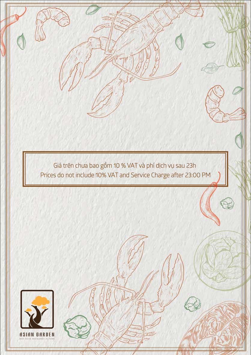Menu Asian Garden - Láng Hạ 2