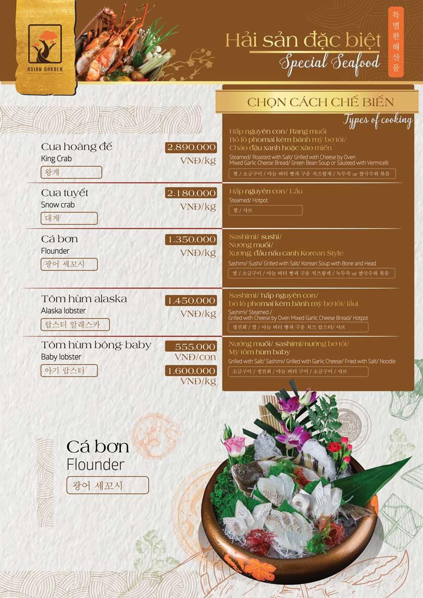 Menu Asian Garden - Láng Hạ 20