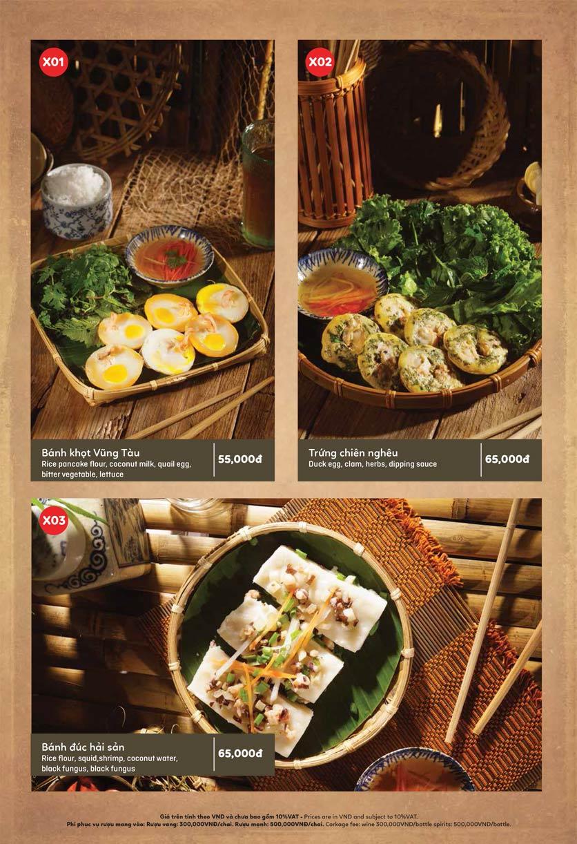 Menu Ầu Ơ – Vietnam Kitchen – Lý Thường Kiệt  2