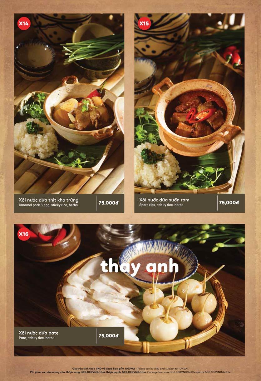 Menu Ầu Ơ – Vietnam Kitchen – Lý Thường Kiệt  8