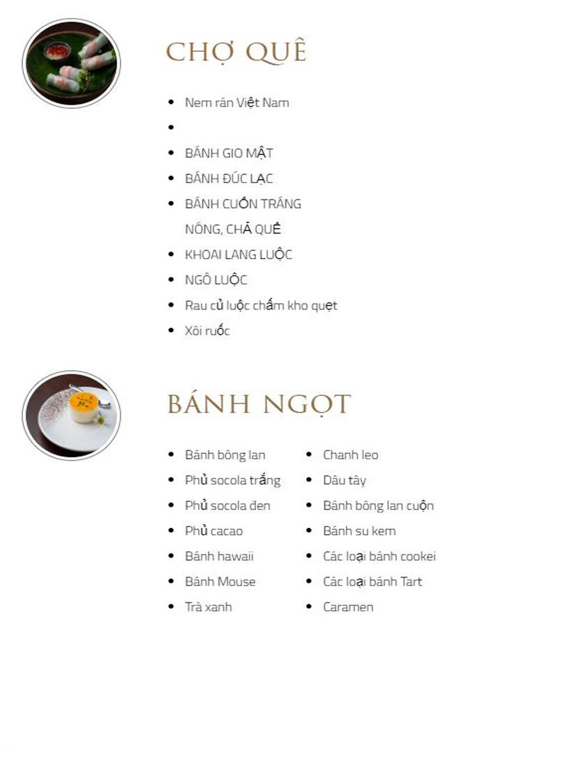 Menu Bay Seafood Buffet Hồ Gươm - Tông Đản 6