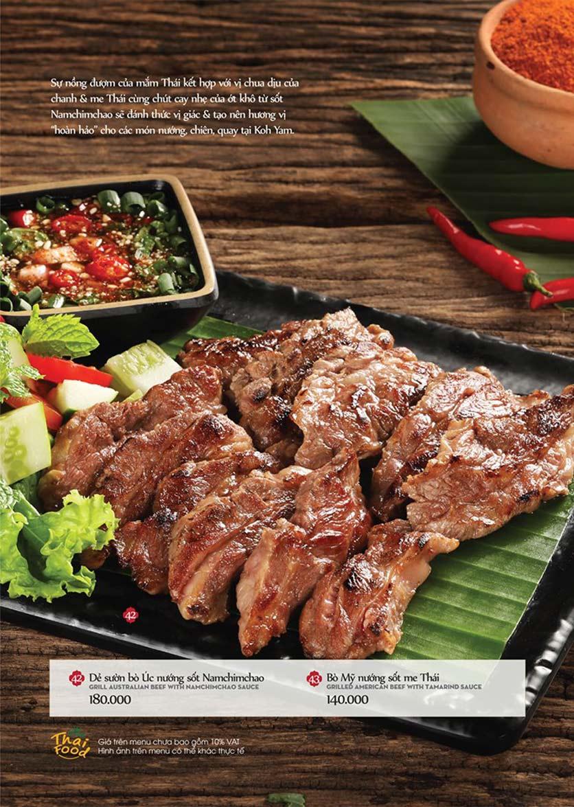 Menu Bếp Thái Koh Yam - Bà Triệu  14