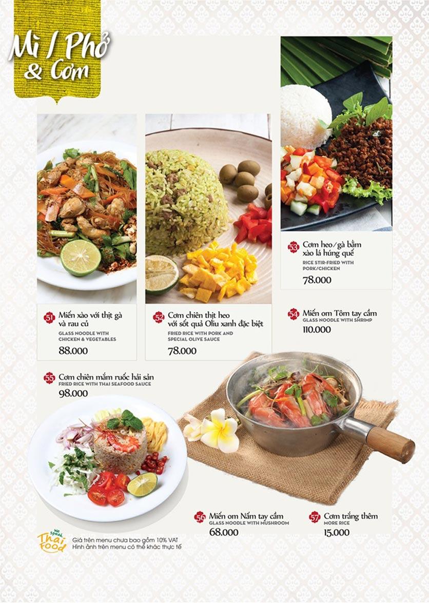 Menu Bếp Thái Koh Yam - Thái Hà 19