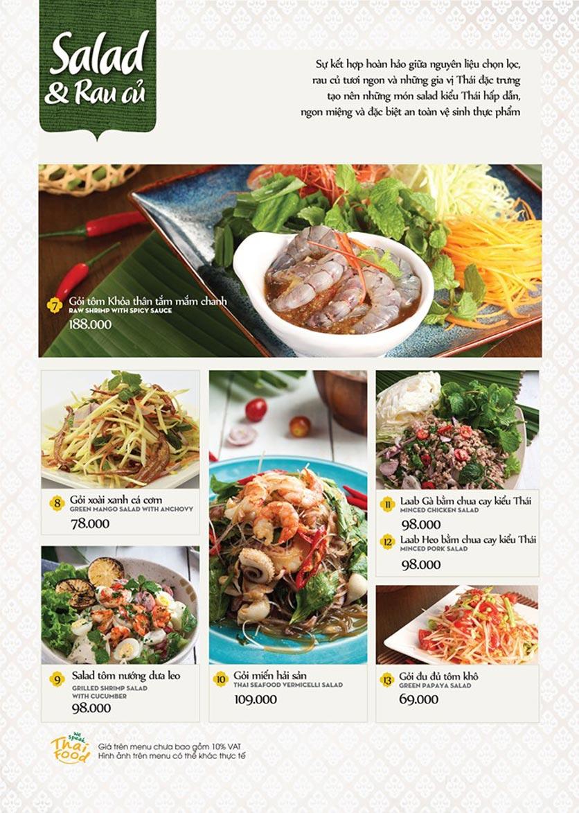 Menu Bếp Thái Koh Yam - Thái Hà 6