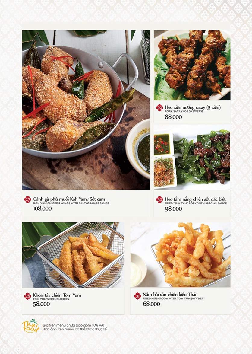 Menu Bếp Thái Koh Yam - Thái Hà 9