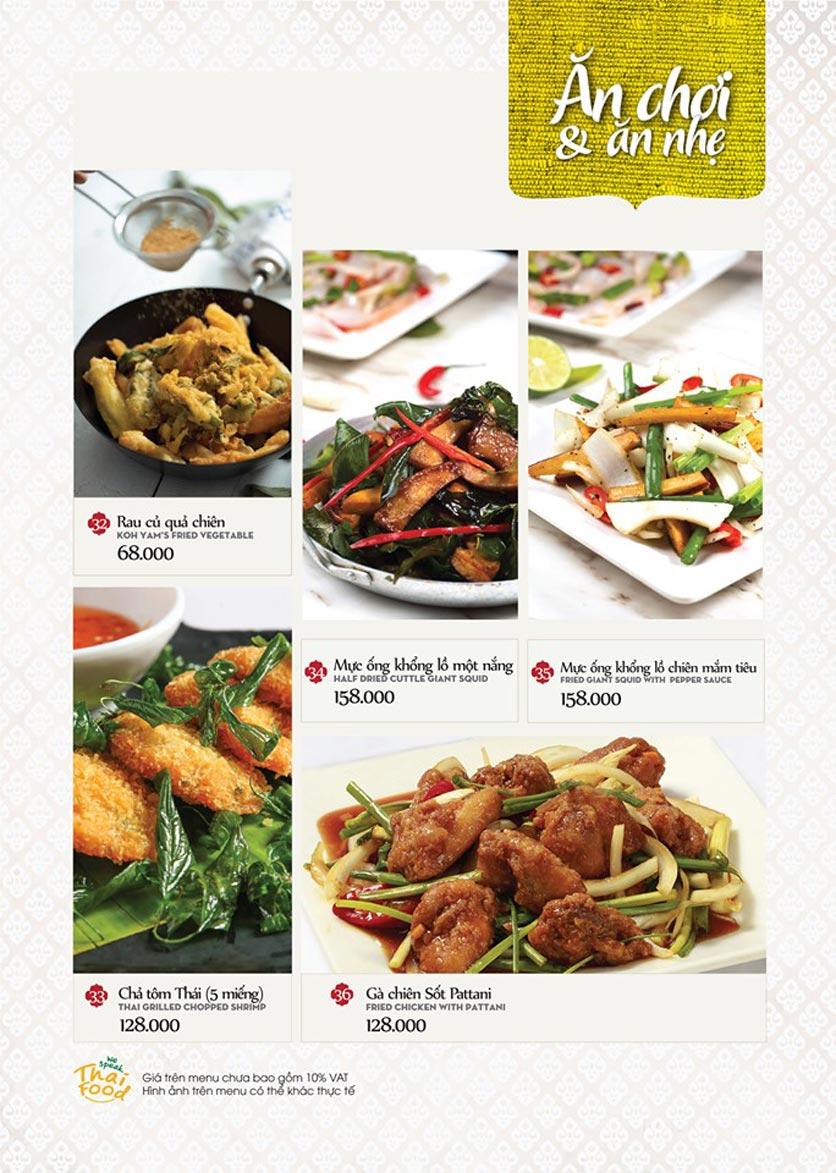 Menu Bếp Thái Koh Yam - Bà Triệu  10
