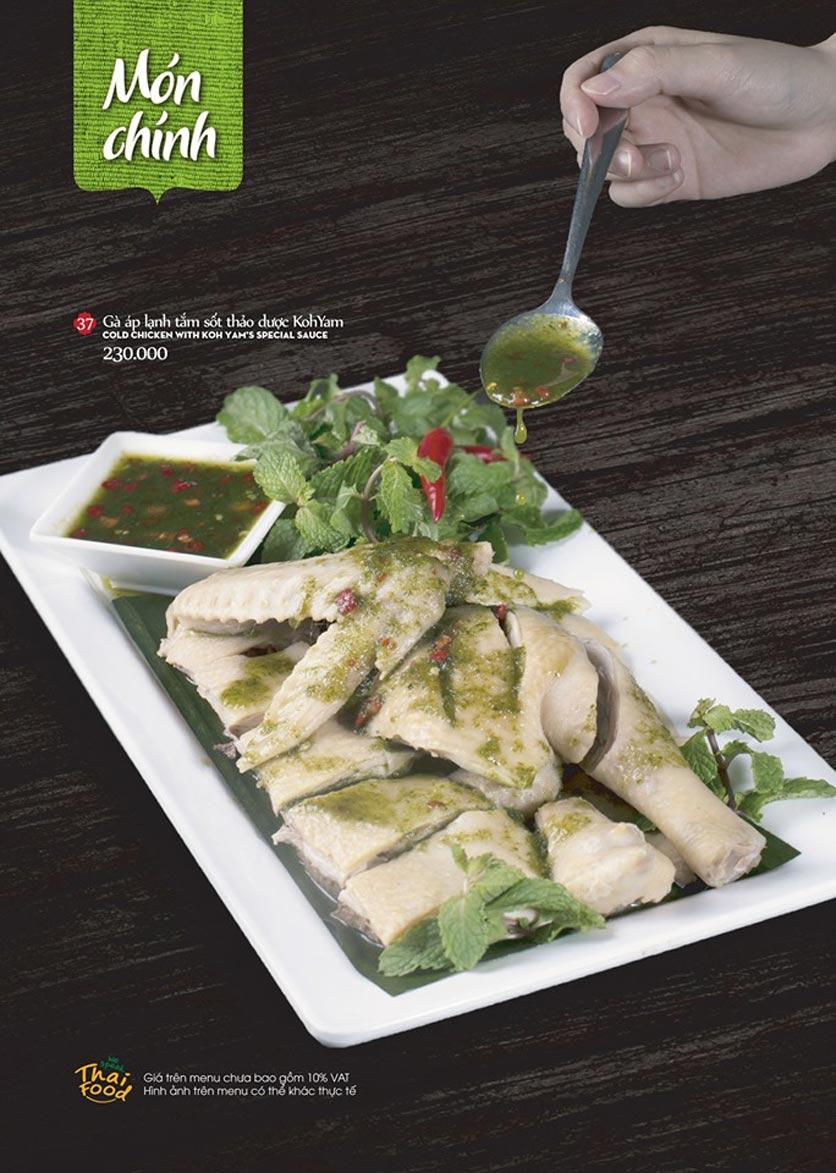 Menu Bếp Thái Koh Yam - Thái Hà 11