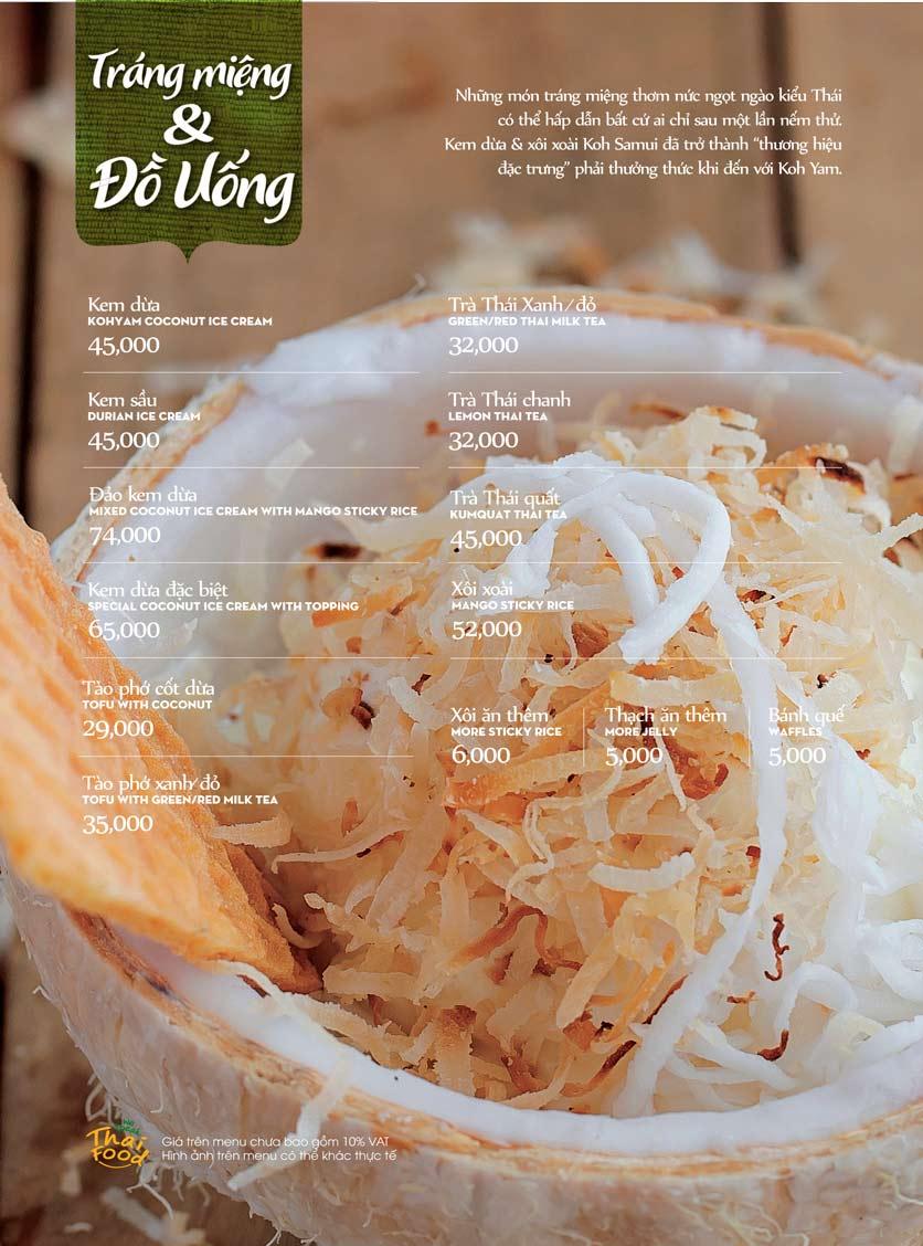 Menu Bếp Thái Koh Yam - Bà Triệu  25