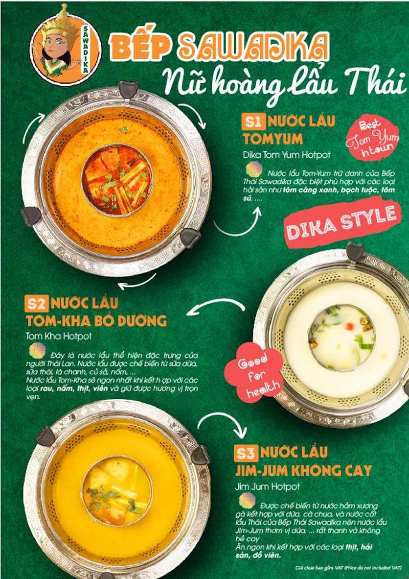 Menu Bếp Sawadika - Nữ Hoàng Lẩu Thái - Nguyễn Khánh Toàn 1