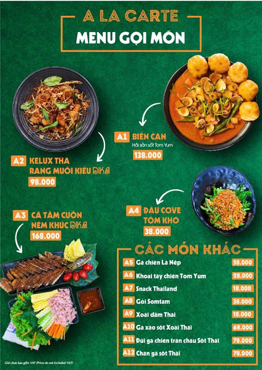 Menu Bếp Sawadika - Nữ Hoàng Lẩu Thái - Nguyễn Khánh Toàn 2