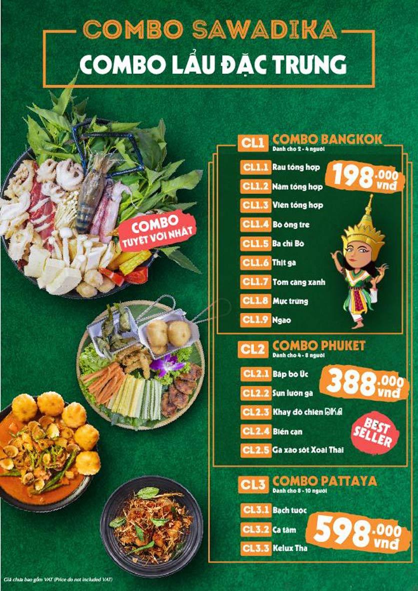 Menu Bếp Sawadika - Nữ Hoàng Lẩu Thái - Nguyễn Khánh Toàn 4