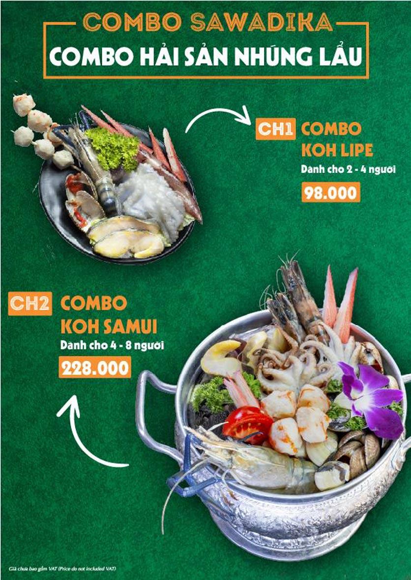 Menu Bếp Sawadika - Nữ Hoàng Lẩu Thái - Nguyễn Khánh Toàn 5