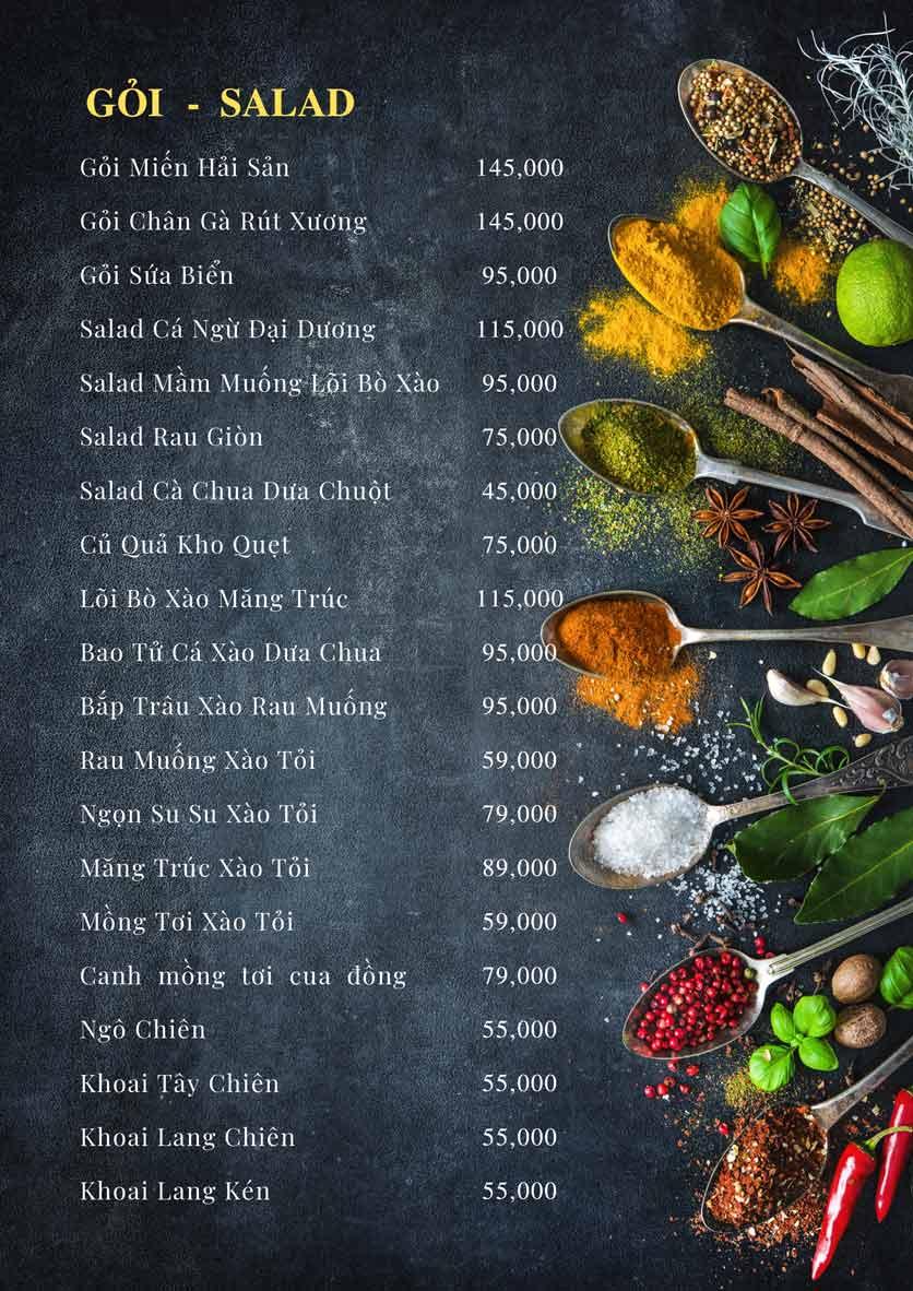 Menu Bếp Xuka - Đội Cấn 7