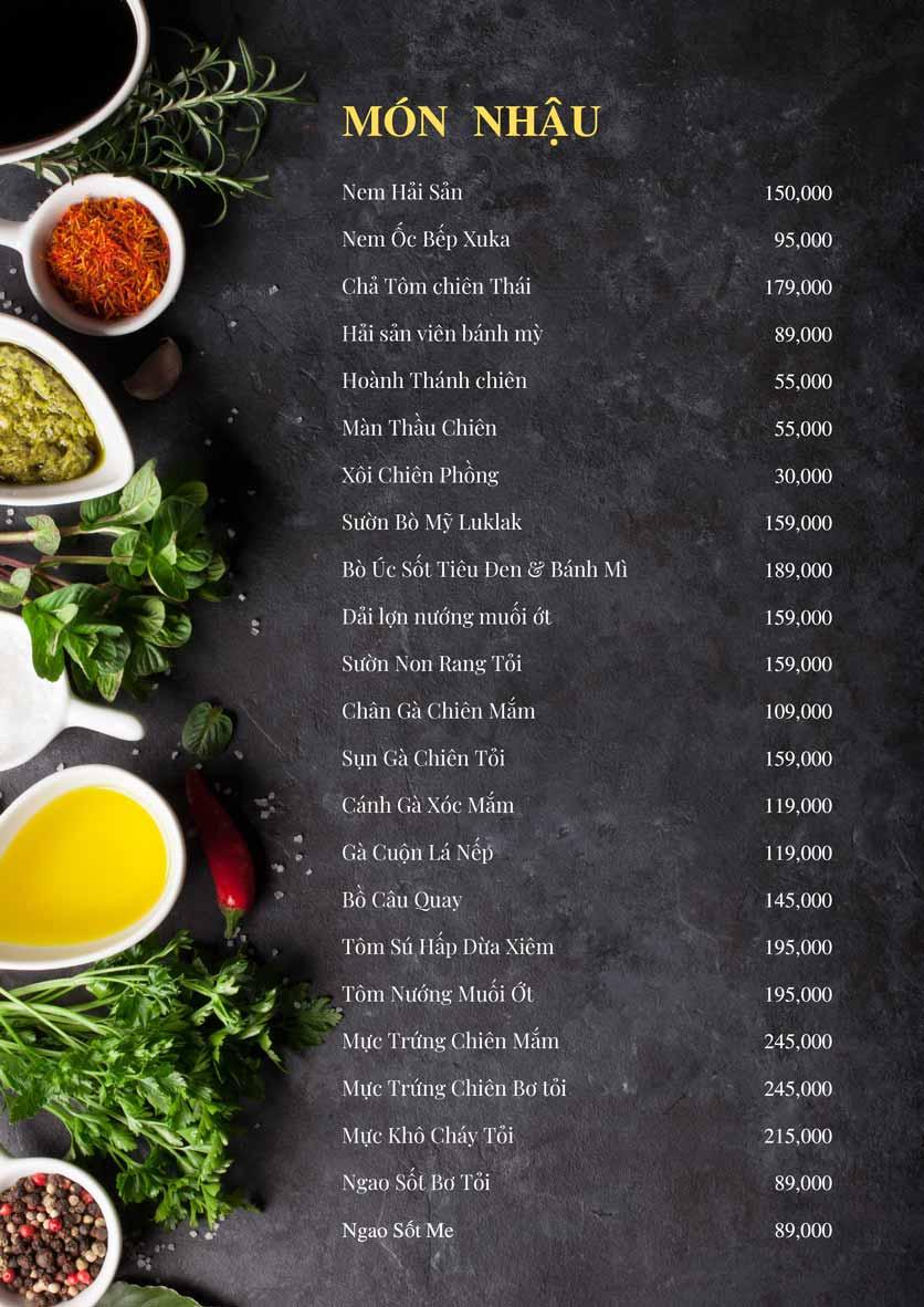 Menu Bếp Xuka – Minh Khai 9