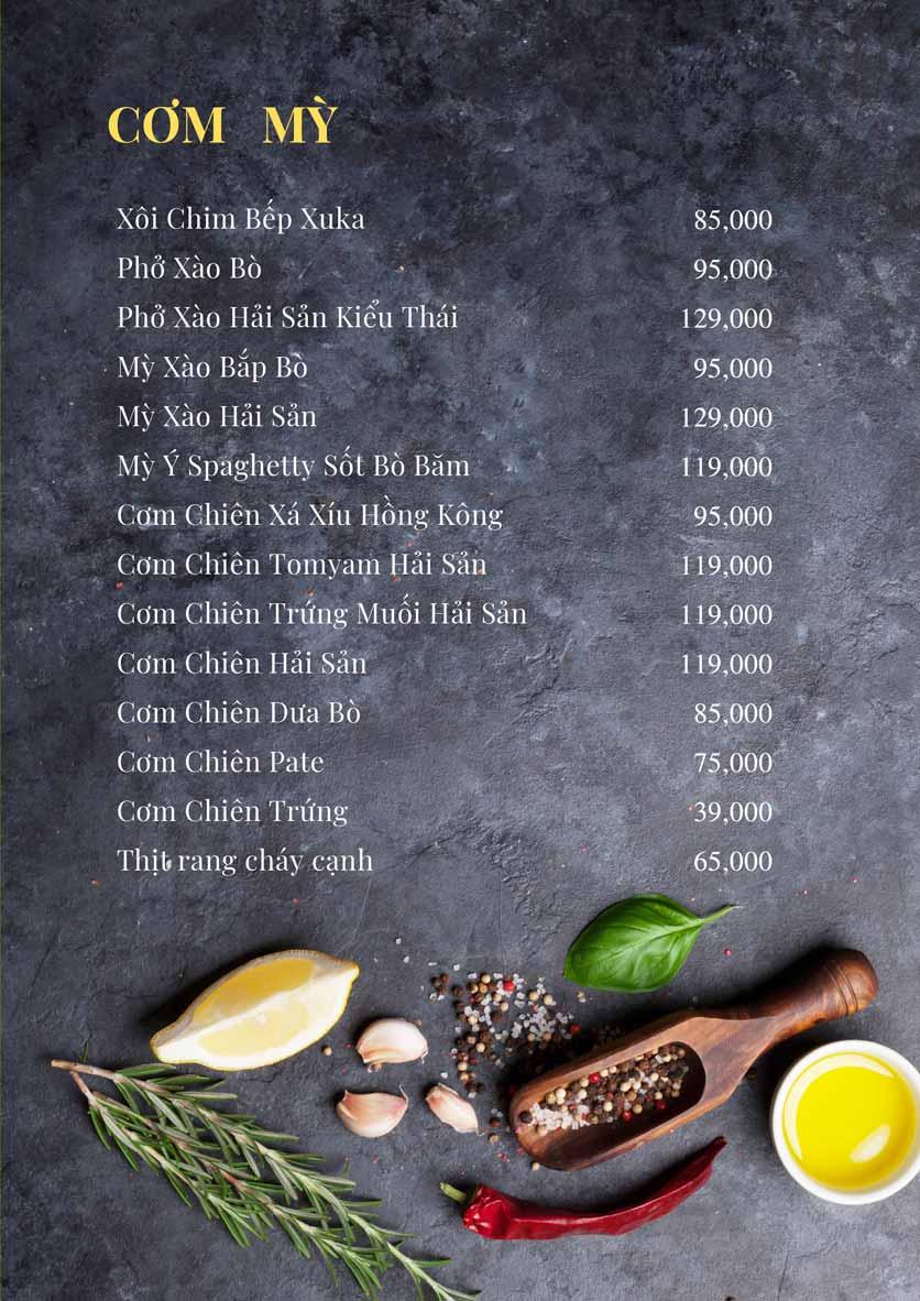 Menu Bếp Xuka – Minh Khai 10