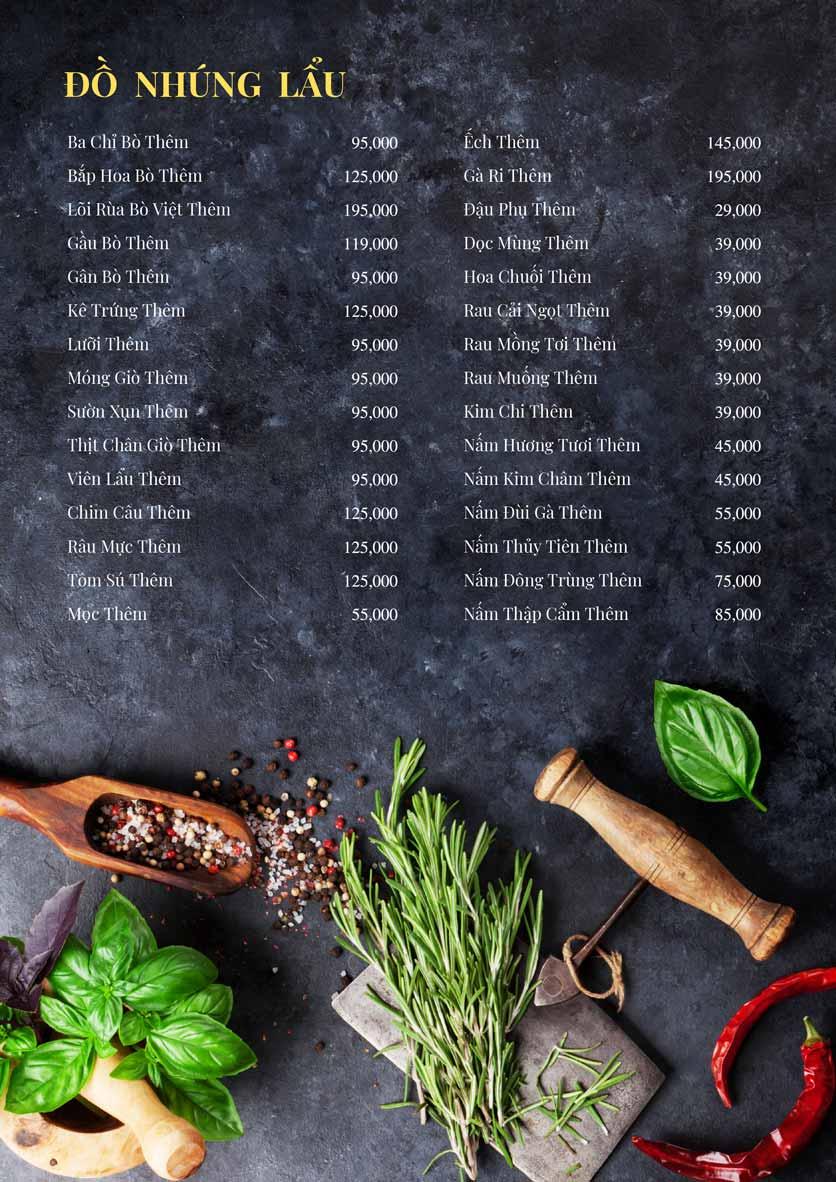 Menu Bếp Xuka – Minh Khai 12