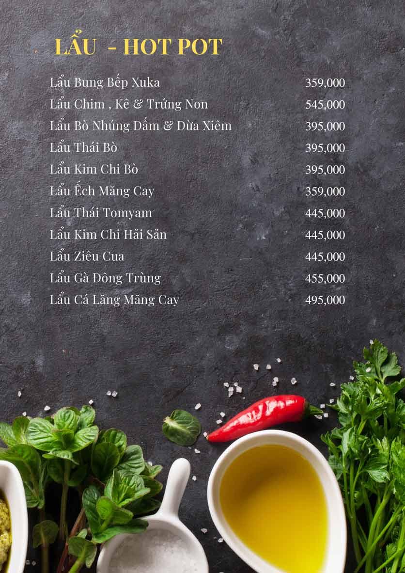 Menu Bếp Xuka - Nhà Chung 15