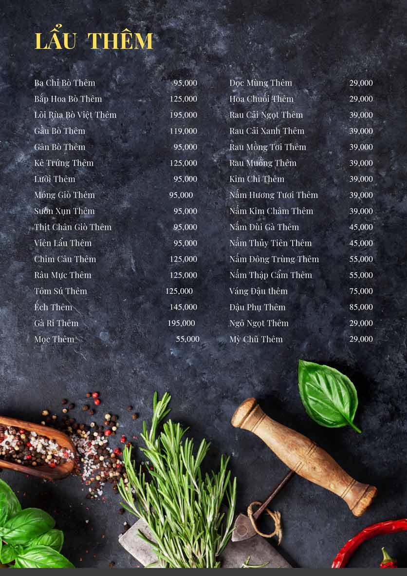 Menu Bếp Xuka - Nhà Chung 16
