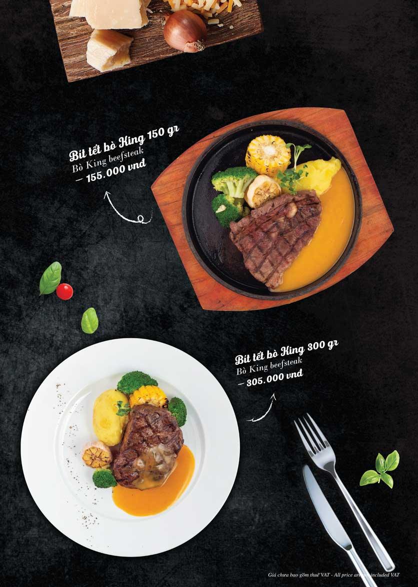 Menu Bò King Beefsteak - Đào Tấn 5