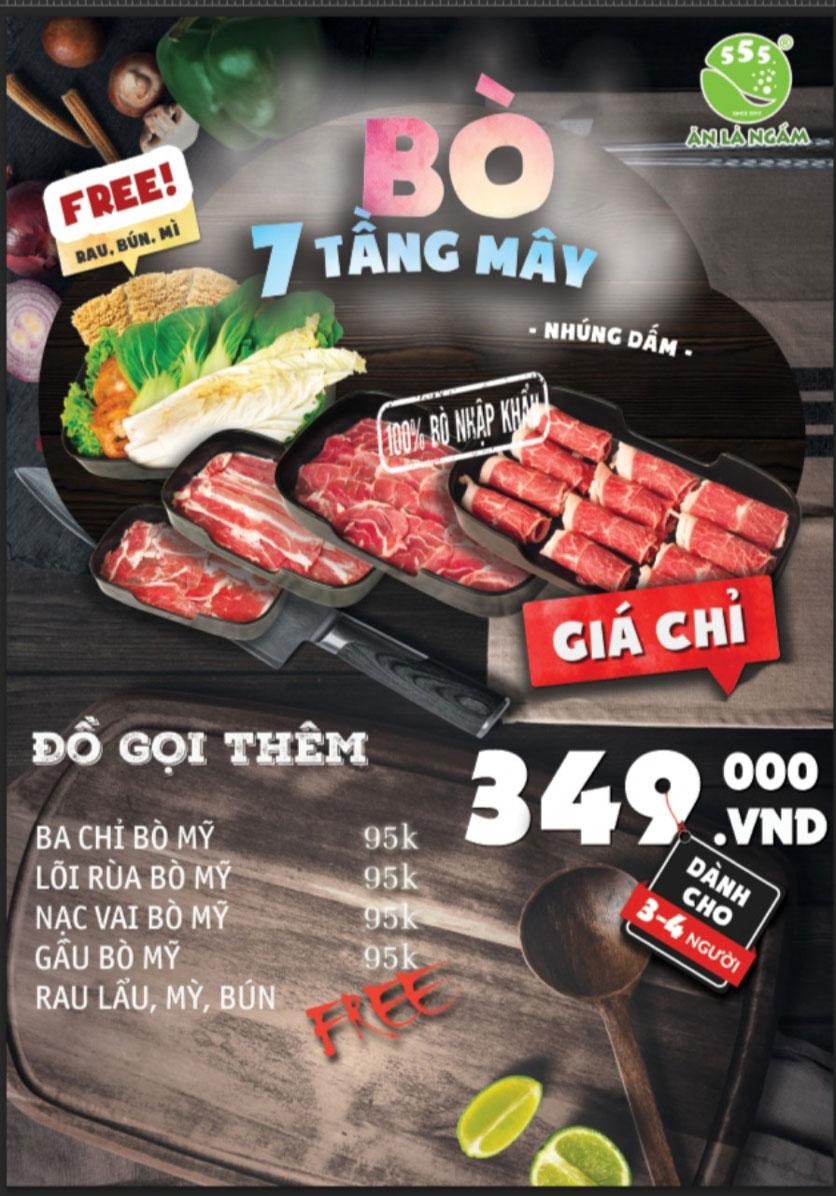 Menu Bò Ngon 555 - Đền Lừ  1